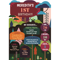 Birthday Poster-09 Into the Forest Theme