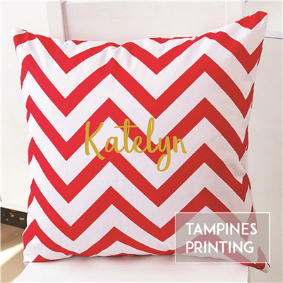 Cushion Cover Chevron Red 1