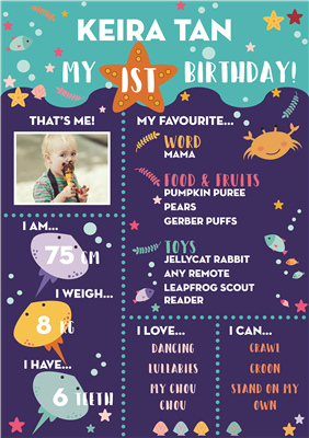 Birthday Poster-04 Under the Sea Theme