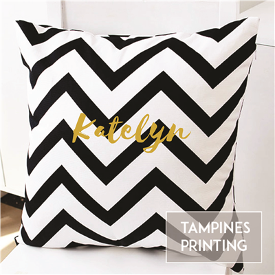 Cushion Cover Chevron Black & White 2