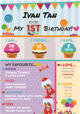 Birthday Poster-08 Candy Theme
