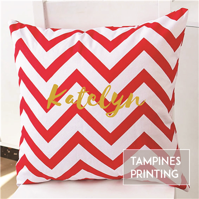 Cushion Cover Chevron Red 2