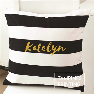 Cushion Cover Black & White Striped 2