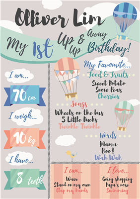 Birthday Poster-06 Up, up & Away Theme